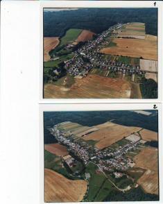 Letecký pohled na obec Bělou